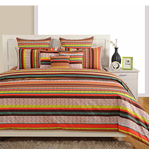 Bed sets-Swayam Multicolour Colour Bed Sheet with Pillow Covers