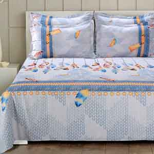 Bedsheets-Luxurious Superfine PolyCotton Bedsheet with 2 Pillow covers