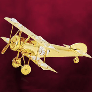 Automobiles-24 Kt Gold Plated Aeroplane Studded with Swarovski Crystals