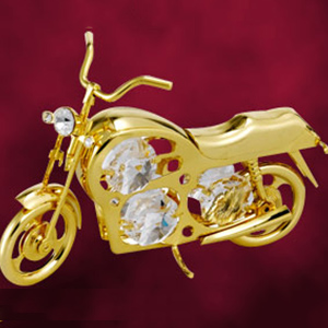 Automobiles-24 Kt Gold Plated Motorcycle Studded with Swarovski Crystals