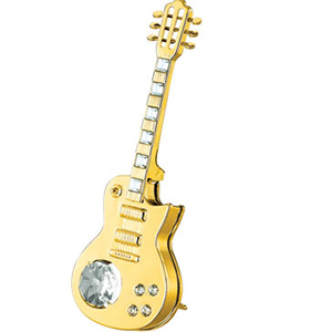 Musical Instruments-24K Gold Plated Electric Guitar Studded with Swarovski Crystals