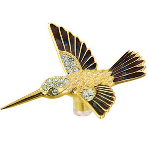 24K Gold Plated Suncatchers Humming Bird Studded with Swarovski Crystals
