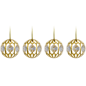 24K Gold Plated Crystal Balls Hanging with Swaorvski Crystals
