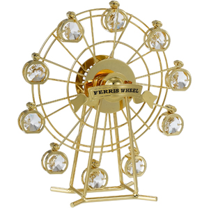 24K Gold Plated Ferris Wheel Studded With Swaorvski Crystals