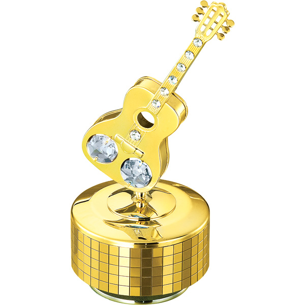 Musical Instruments-24K Gold Plated Musical Base with Guitar