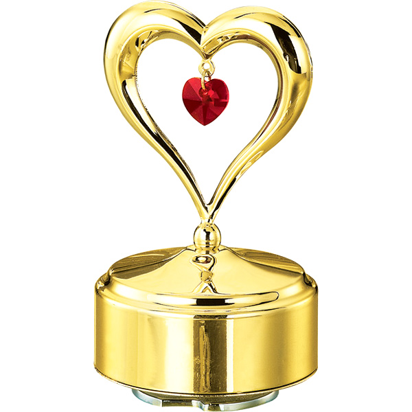 24K Gold Plated Musical Base with Heart