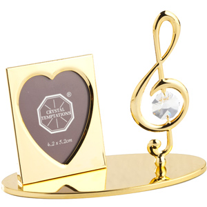 Gift Items-24K Gold Plated Photo Frame Treble Clef