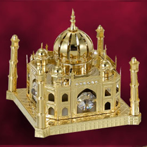 24 Kt Gold Plated Taj Mahal Studded with Swarovski Crystals