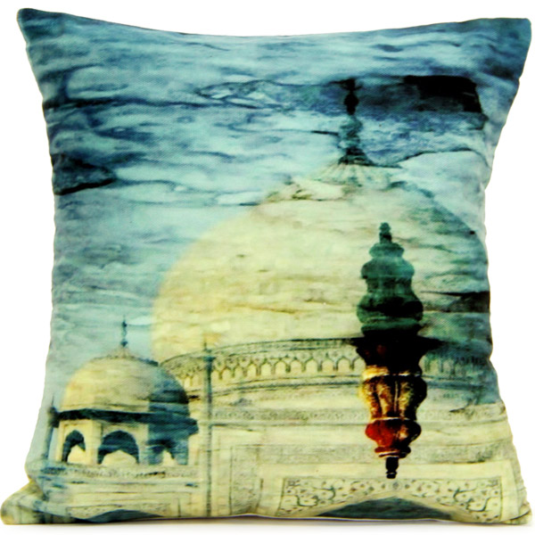 Pillow & Cushion Cover-Tajmahal Print Cushion