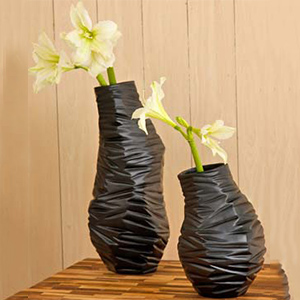 Black Milano Textured Vase