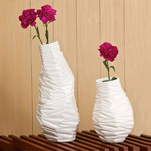 White Milano Textured Vase