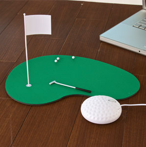 Golfing Green Pad with Mouse
