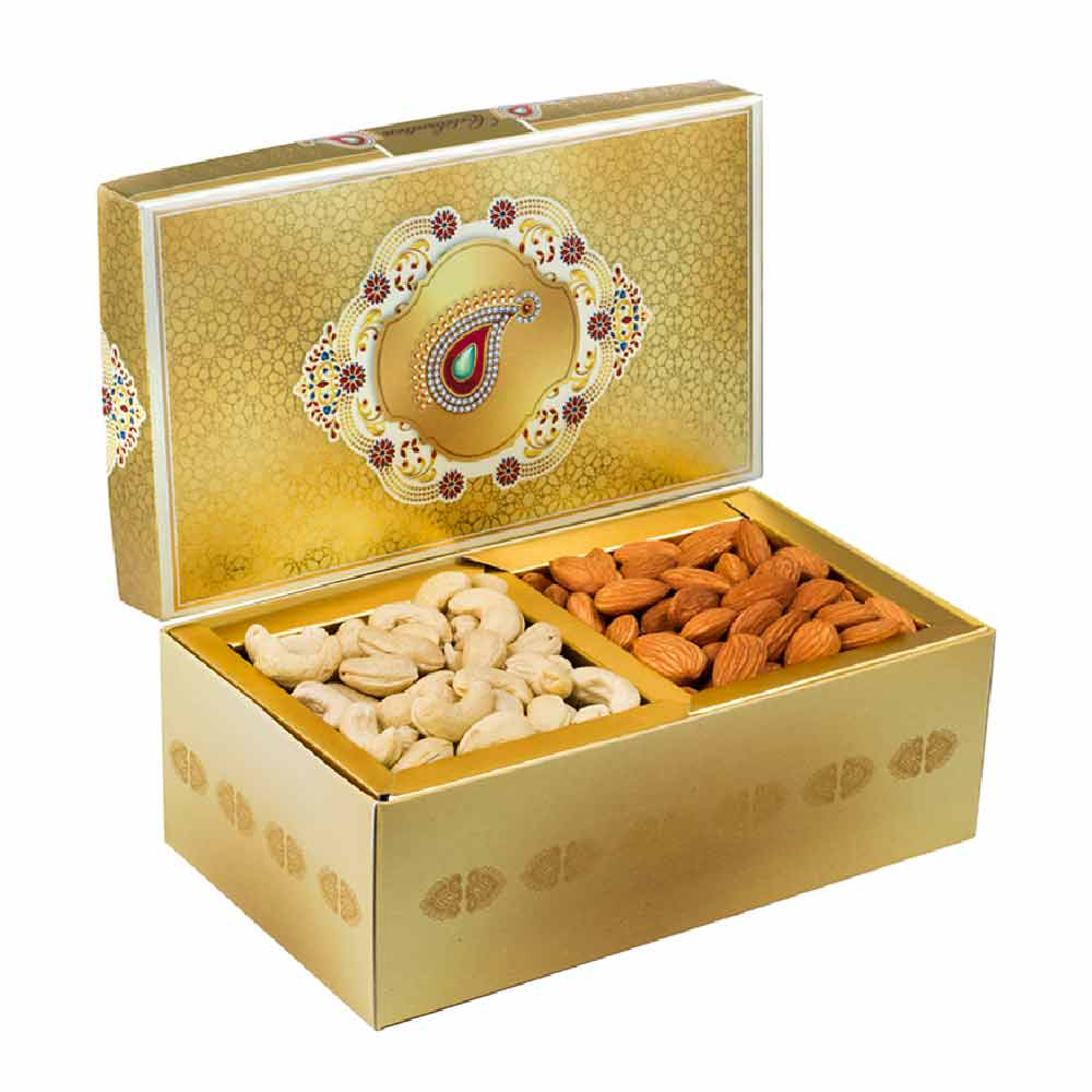 Golden Glow Cashewnuts Almonds Delight Gift Box