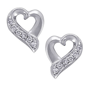 Heart Collection-Diamond Earrings - Sparkle Of Love