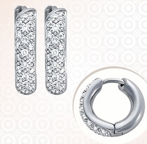 Diamond Earrings-Designer Diamond Bali