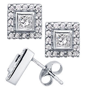 Designer Diamond Earrings - Solitaire Studs