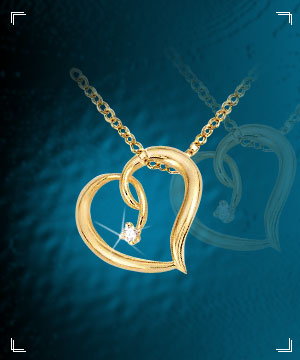 Heart Collection-Heart Shaped Diamond Pendant