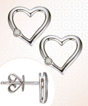 Heart Collection-Diamond Earrings -Twin Sparkle