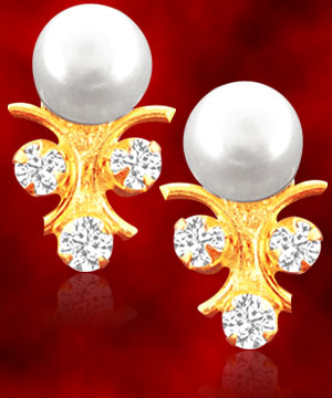 Jpearls Nakshatra Pearl Earrings