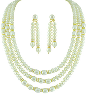 Pearl Sets-Jpearls Three String Pearl Set