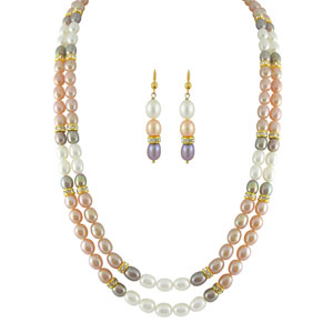Jpearls Multicolored Classic Pearl Set