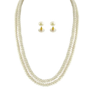 Pearl Sets-Jpearls 2 String White Pearl Set