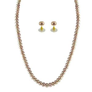 Jpearls Single Line Pink Pearl Set