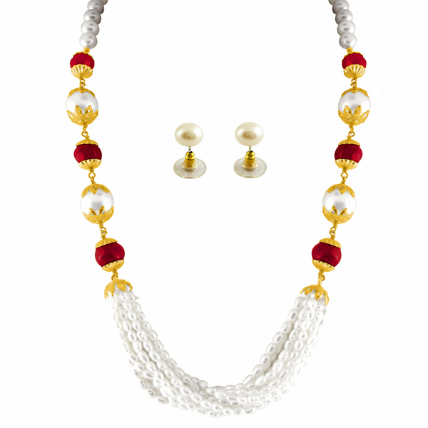 Jpearls Genial Pearl Necklace Set