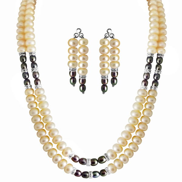 Pearl Sets-Jpearls 2 Line Eloquent Pearl Set