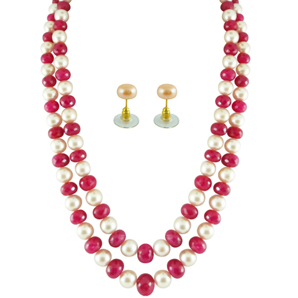 Pearl Sets-Jpearls Pearls With Rubies