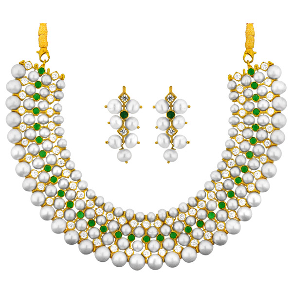 Pearl Sets-Jpearls Classic Pearl Necklace Set