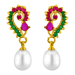 Pearl Earrings-Jpearls Attractive Pearl Earrings