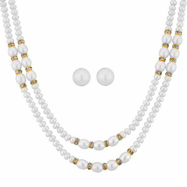 Jpearls 2 Line Frizzle Pearl Set