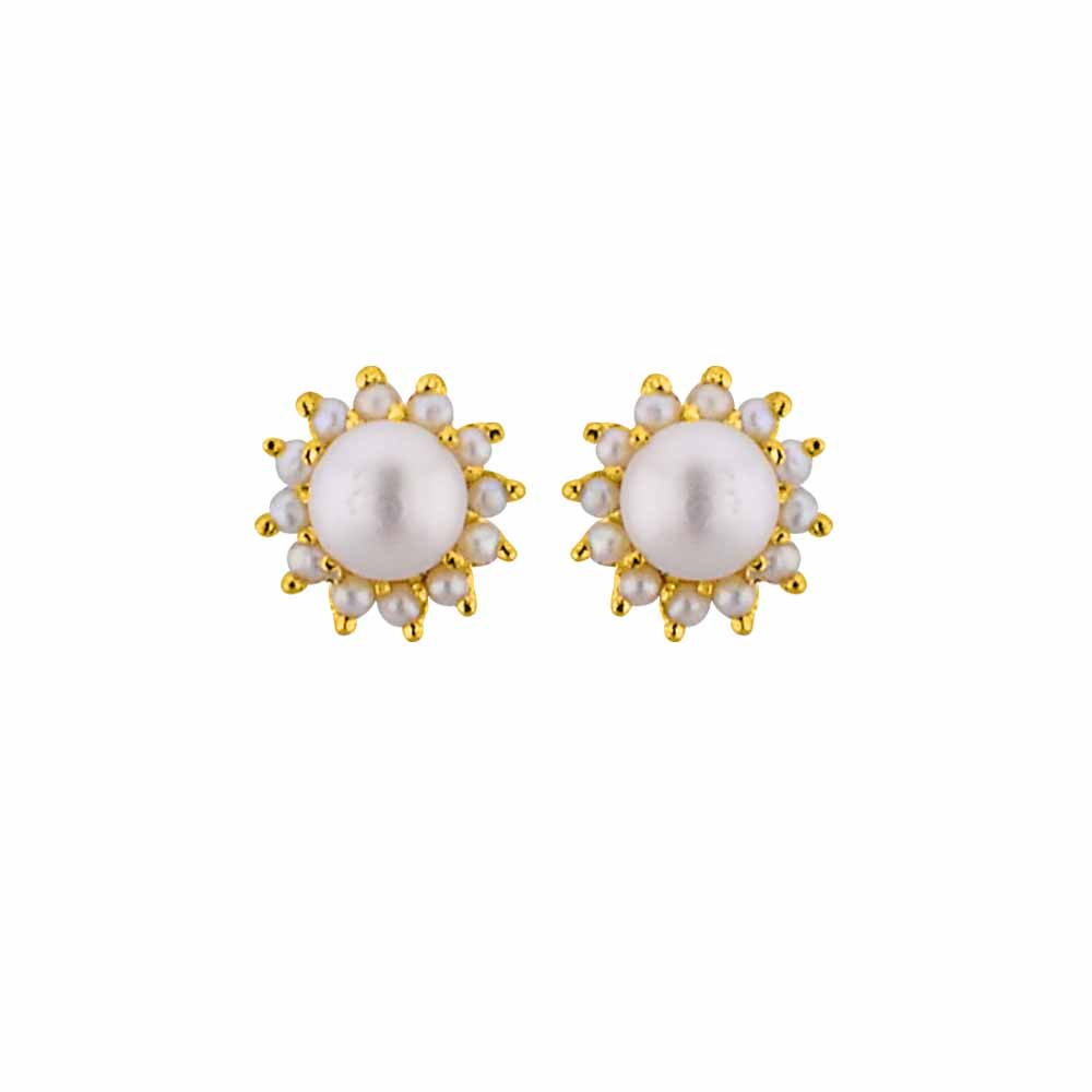 Pearl Earrings-Jagdamba Pearls speculate Studs