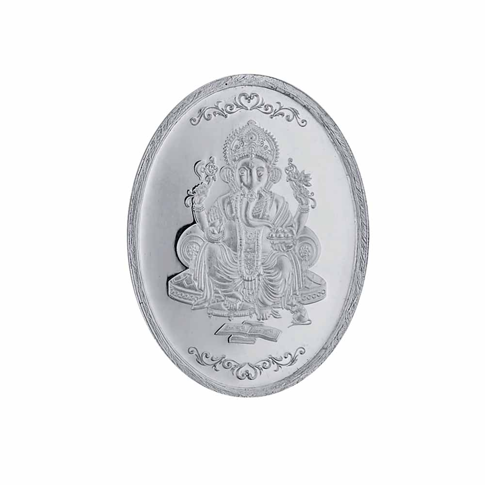 10 grams 99.9% Ganesh Oval silver coin