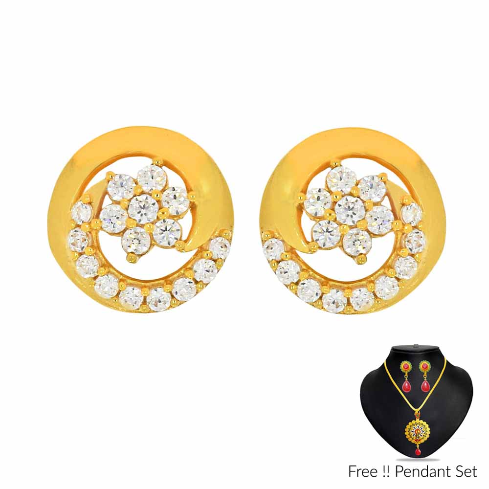 Gold Earrings-22Kt (916) Basant Gold Earrings