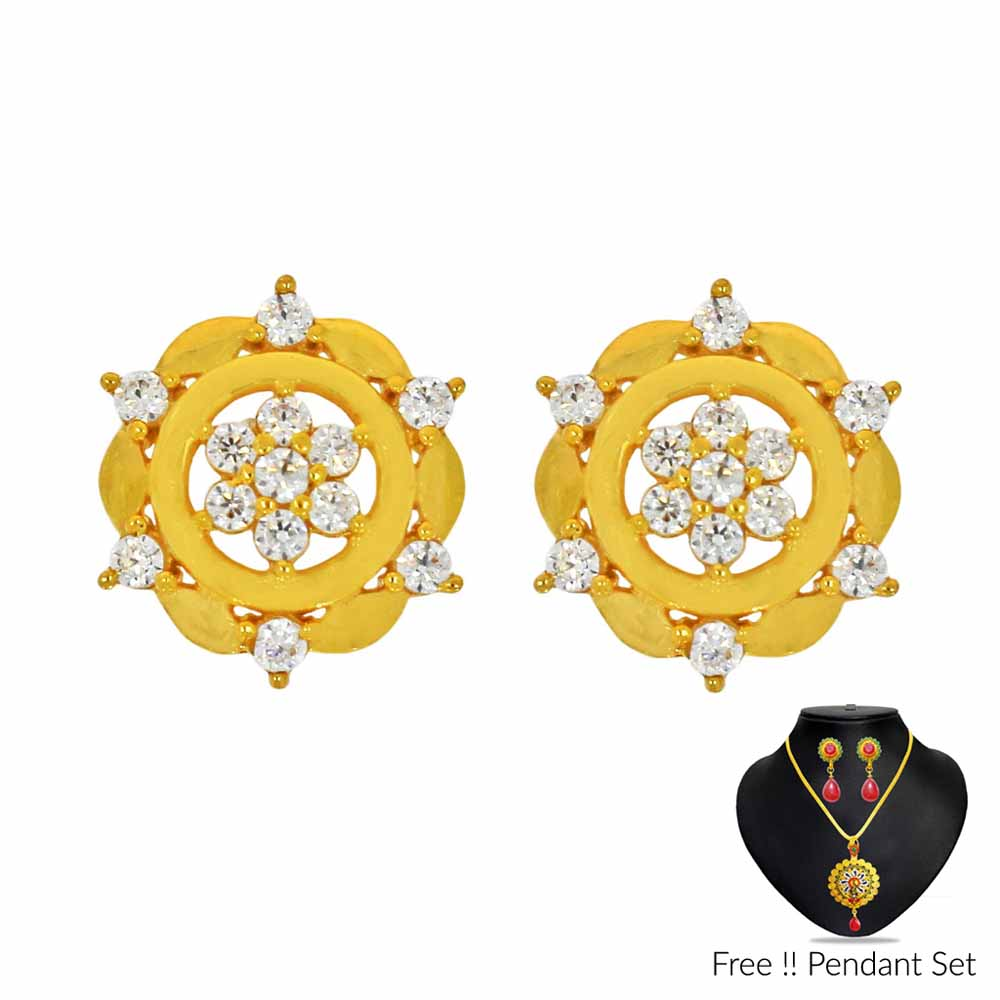 22Kt (916) Stylish Gold Earrings
