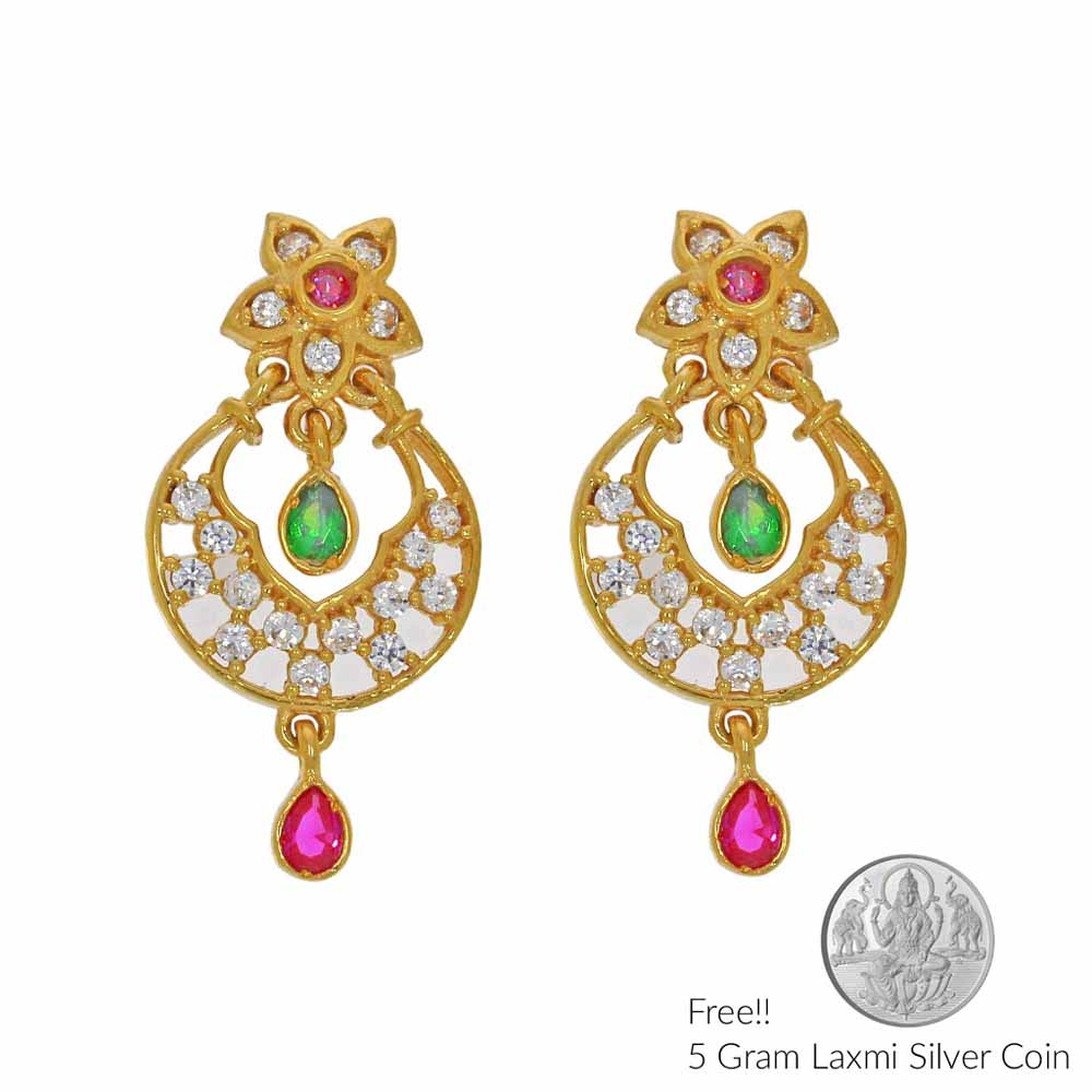 Gold Earrings-Magnificent 22Kt Gold Earring
