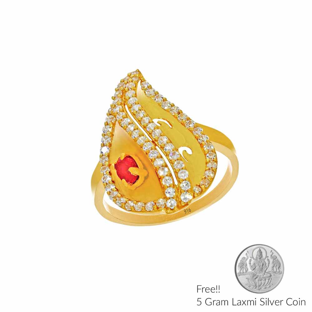 Gold-Glory Lily Gold Finger Ring