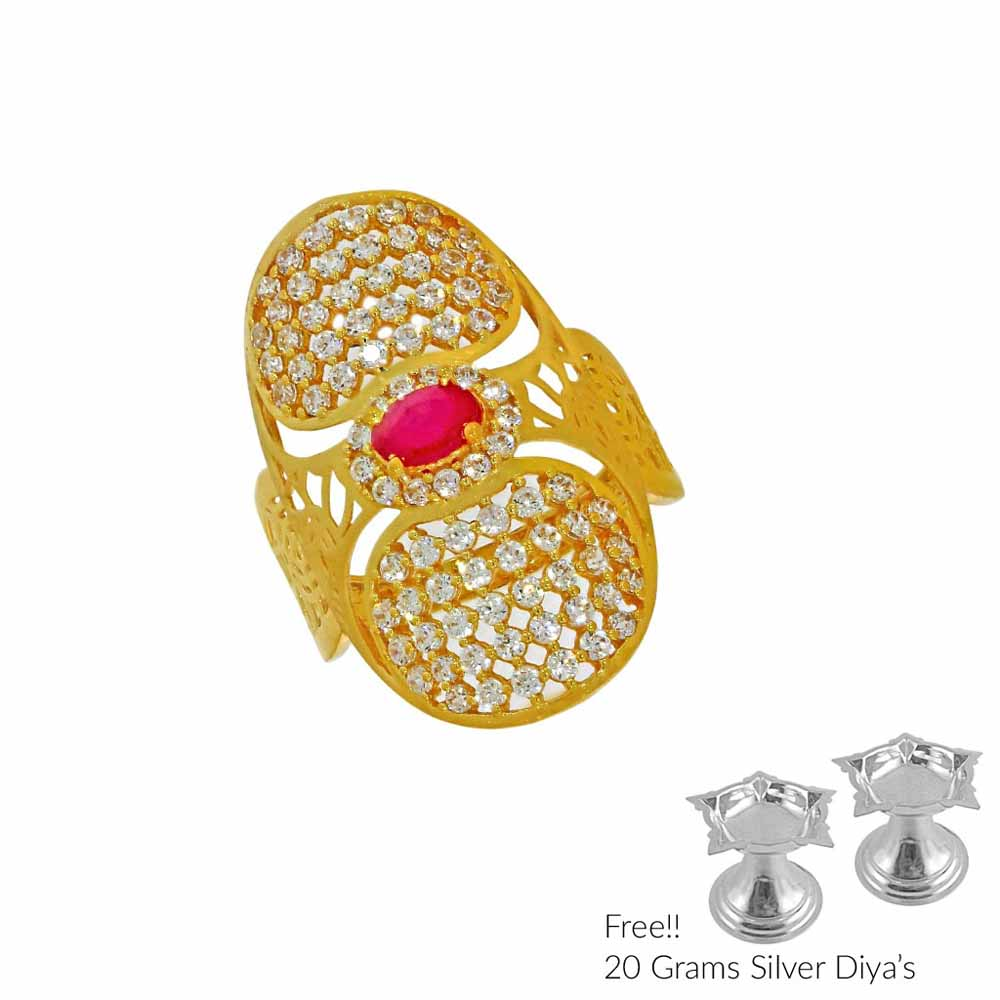 Gold-Queen Gold Finger Ring