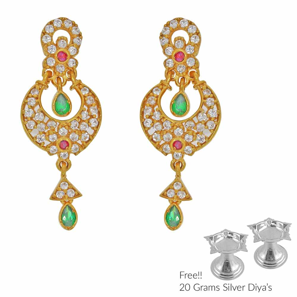 Grandiose 22Kt Gold Earrings