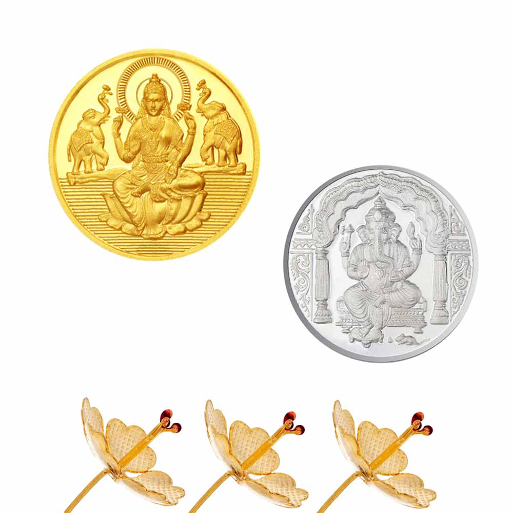 Laxmi Ganesh Gold Coin Hamper