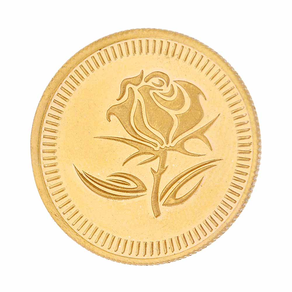 22Kt Flower Gold Coin