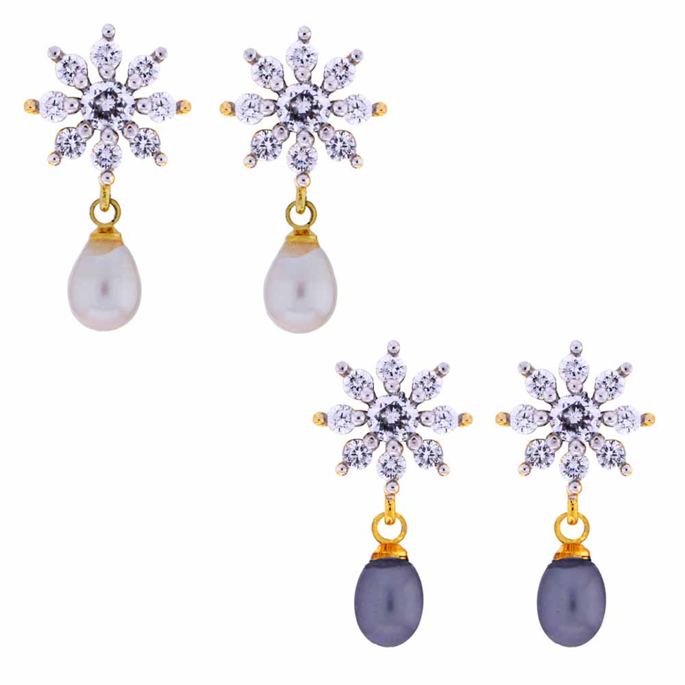 7 Star Pearl drop Earrings