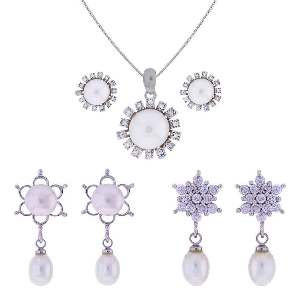 Surat Diamond-Attractive Cz Pendant Set