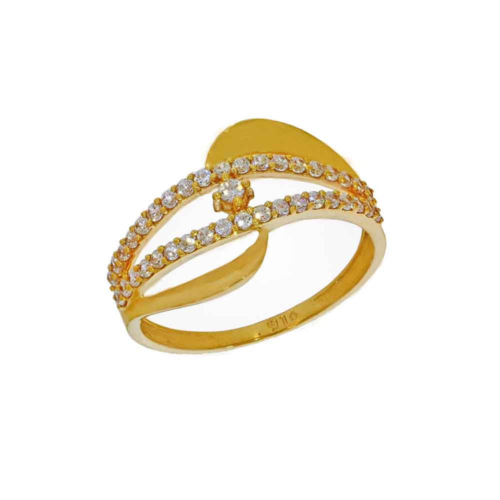 Gold-22kt Gold Bright Finger Ring