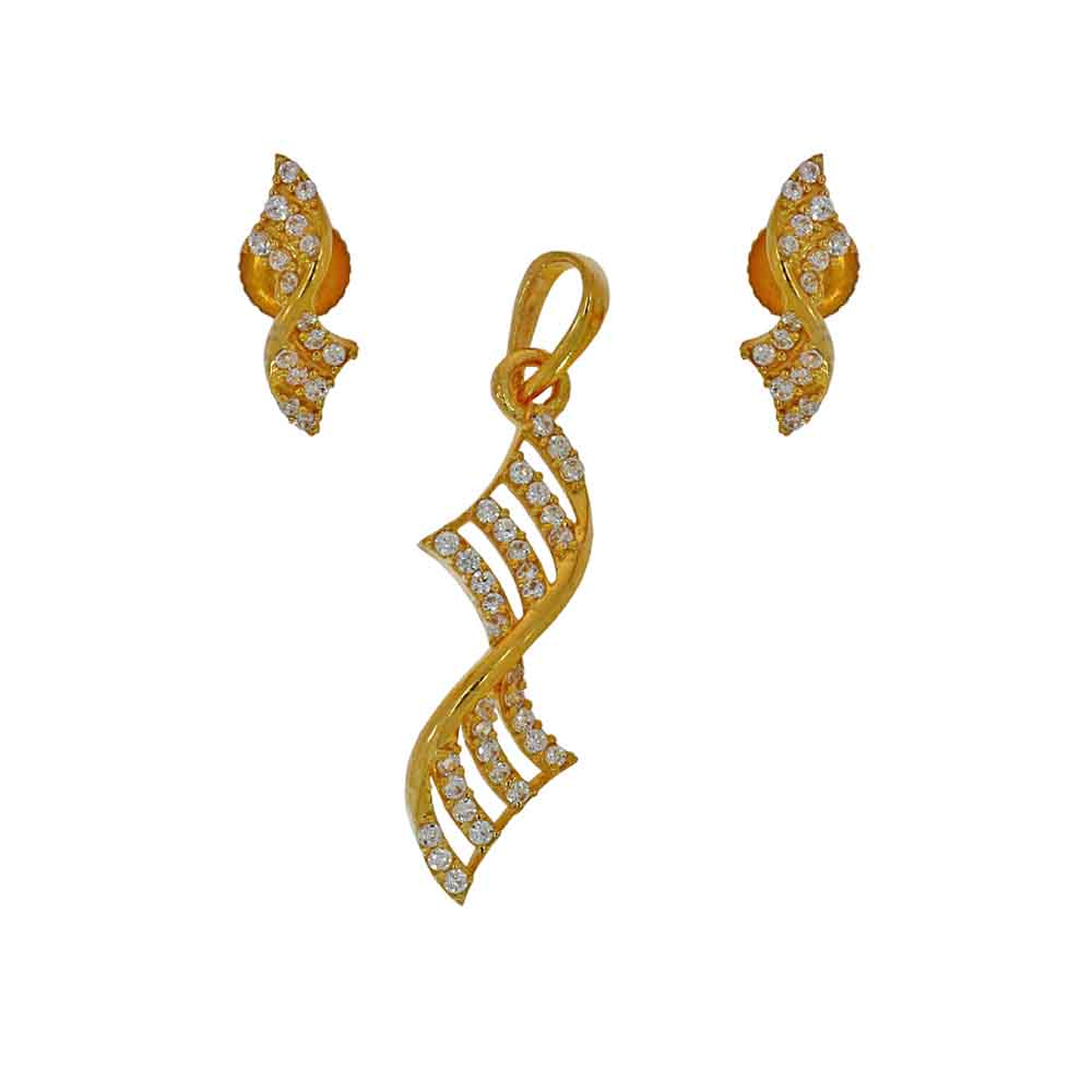 Gold Pendants-22kt Angel Pendant Set