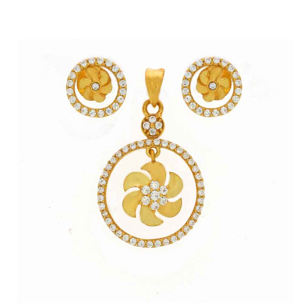 Gold Pendants-22kt Khushi Pendant Set
