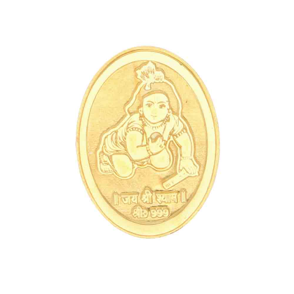 Gold-24Kt Lord Krishna Gold Coin