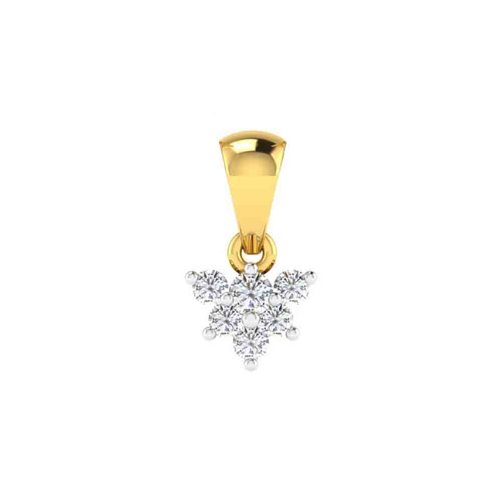Diamond Pendants-18Kt Blossom Diamond Pendant